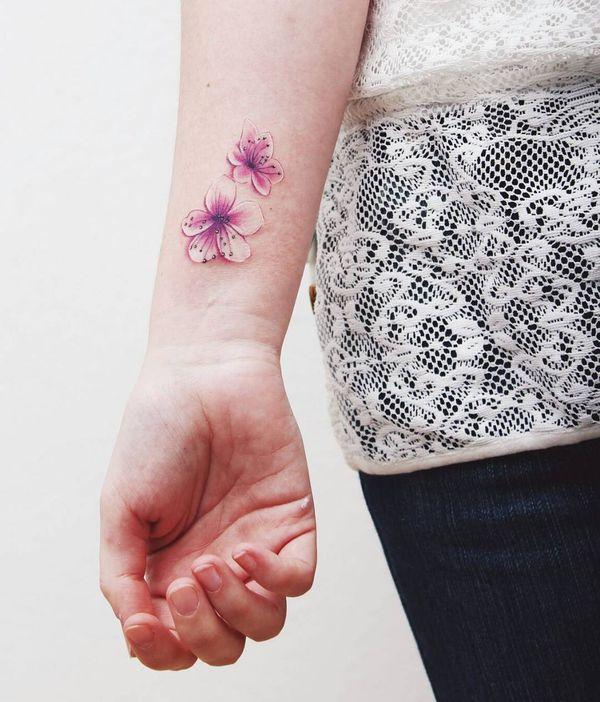 Tatouage De Fleur De Cerisier Japonais Club Tatouage