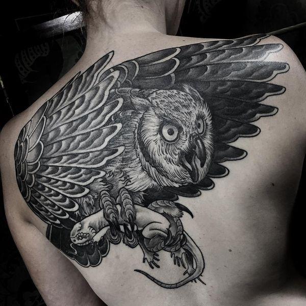 53 conceptions utiles de tatouage de chouette