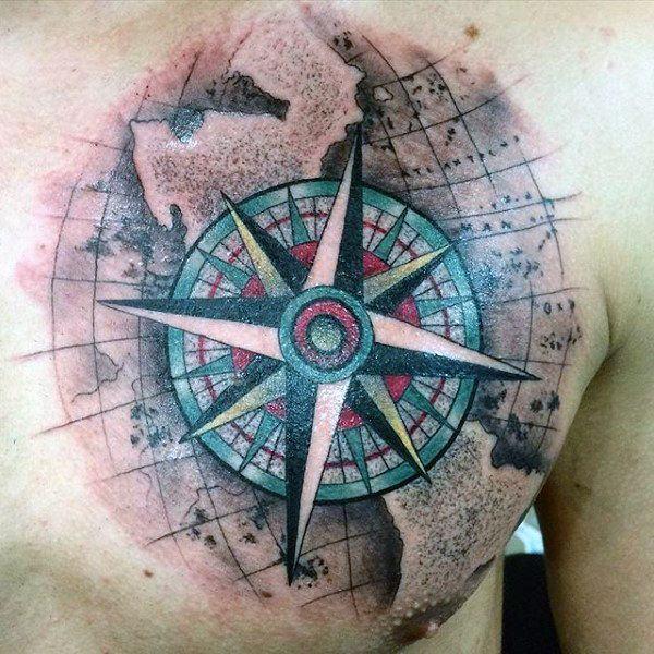 Meilleur 110 Meilleurs dessins de tatouage de boussole