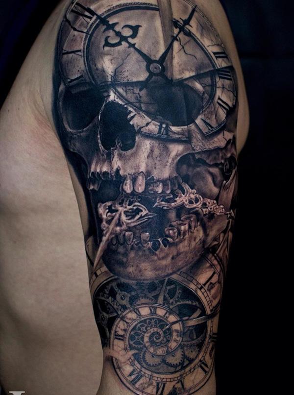 Tête de mort tatouage-19