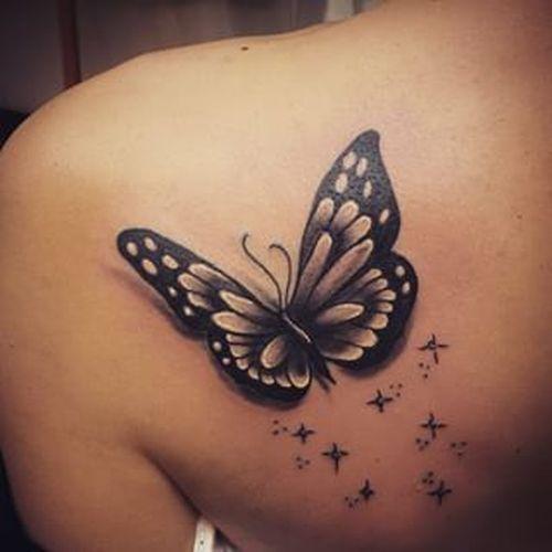 Ebony 3-D papillon