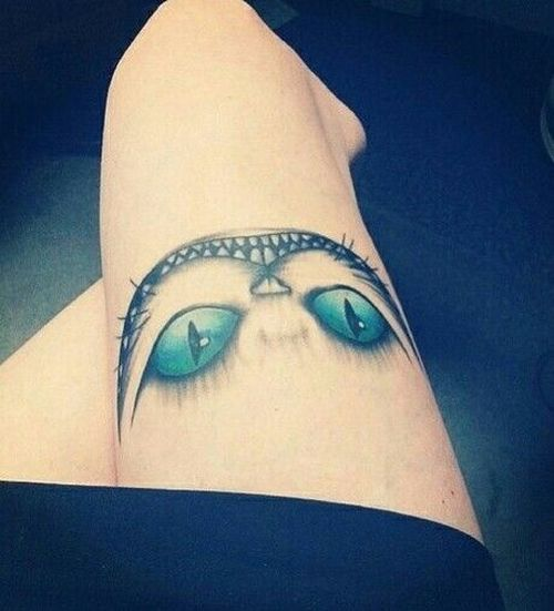 Idées étonnantes de tatouage de chat de Cheshire