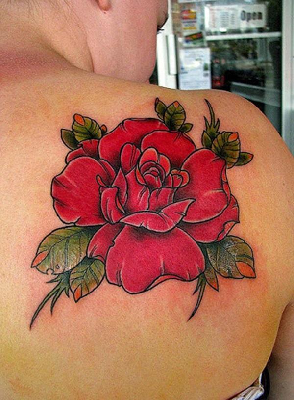 35 beaux dessins et significations de tatouage de rose 1