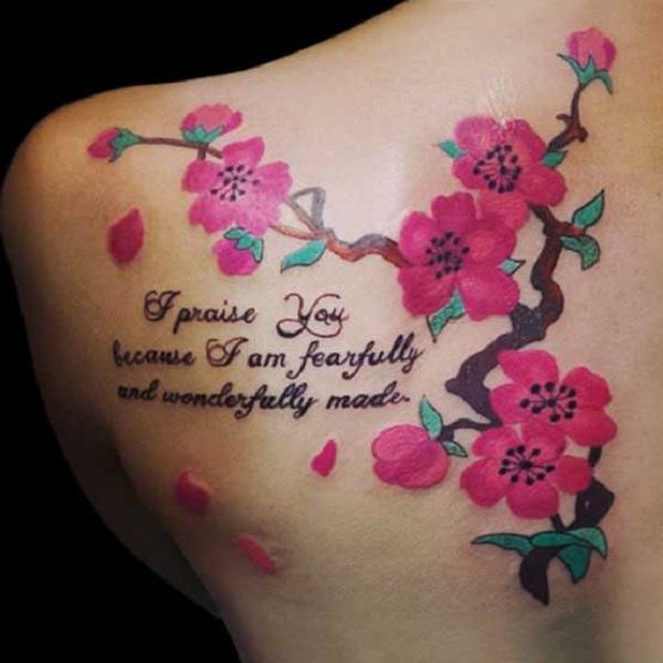 Top 40+ beaux tatouages de fleurs de cerisier