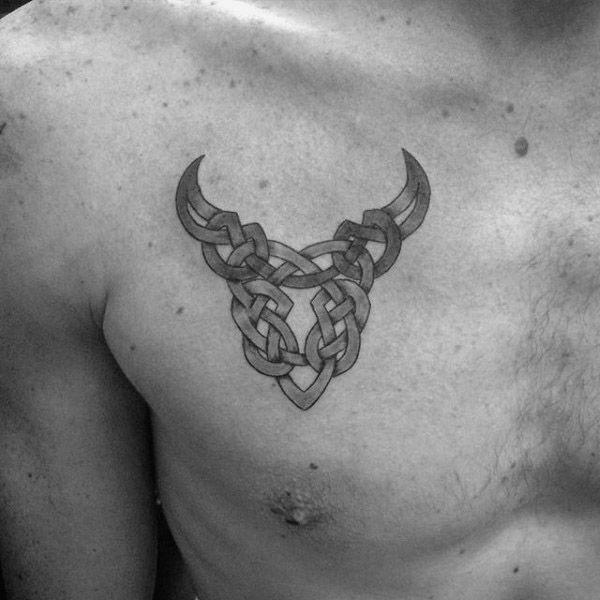 Tatouages puissants de symbole de taureau et ses significations