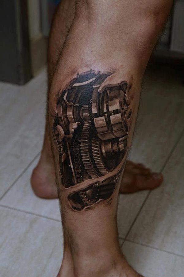 Conception de tatouage jambe Giger