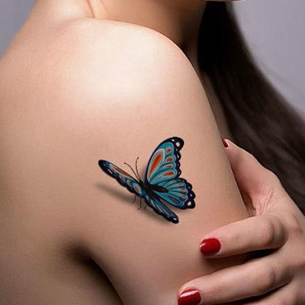 Tatouage papillon 3D 1