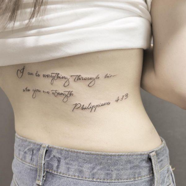 Tatouage verset biblique