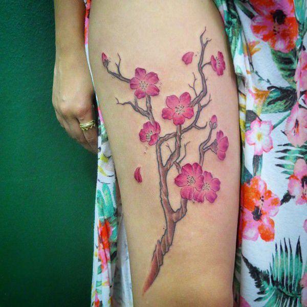 Meilleur 125 meilleurs tatouages de fleurs de cerisier de 2018
