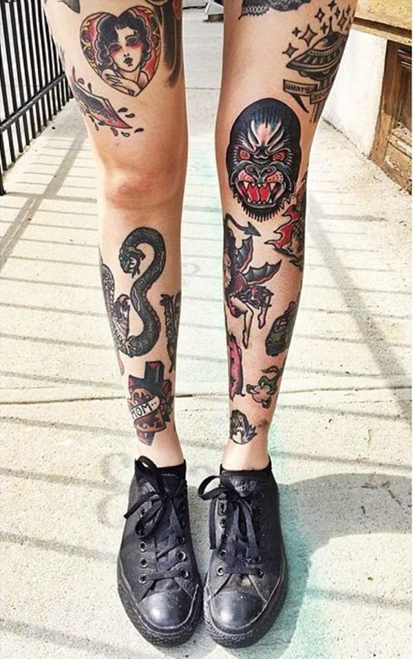 99 conceptions attrayantes et sexy de tatouage de jambe