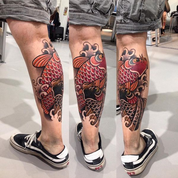 Koi Fish Tattoo Signification et conceps