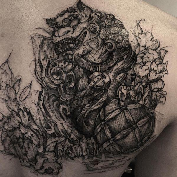 Les tatouages Foo Dog sauvages pour vous protéger