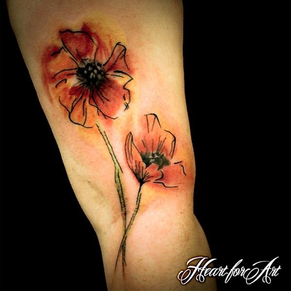 Top 70 idées de tatouage de fleur de coquelicot