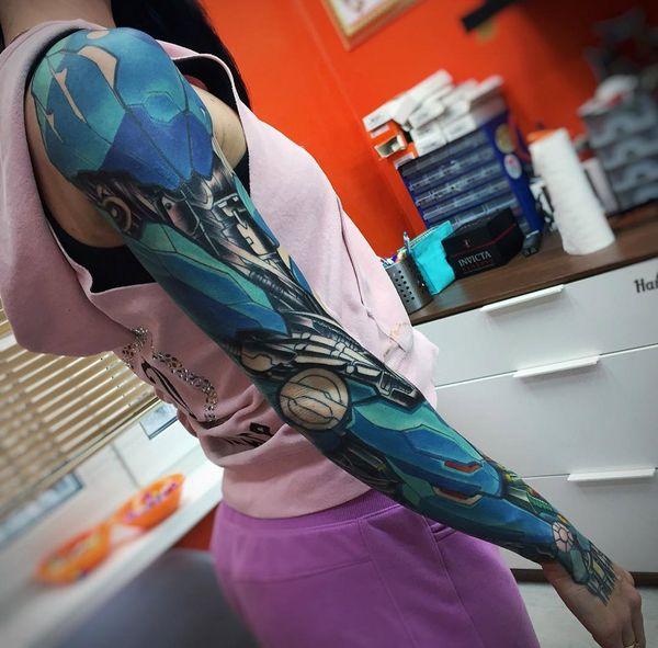 Cyborg Bras Tatouage pour les dames