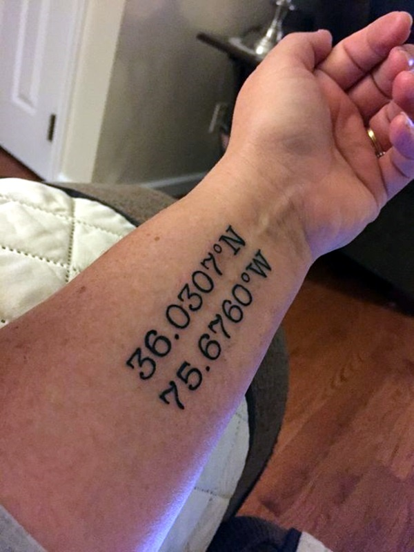 Adventure Coordinates Idées de tatouage pour votre prochain voyage