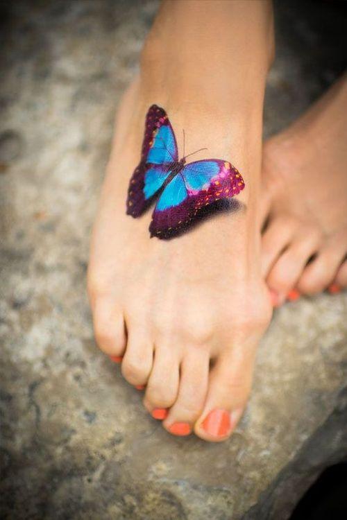 Papillon en trois dimensions affectueux