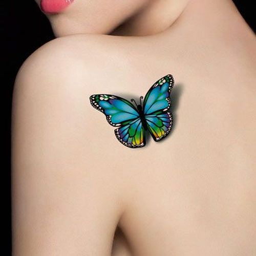 Hued 3D Butterfly