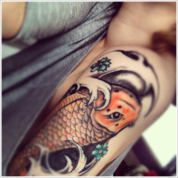 Tatouages Koi accrocheur et significations