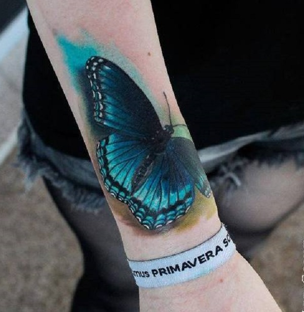 Tatouage papillon 3D 9