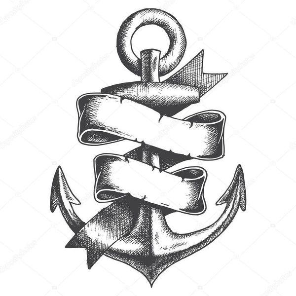 Anchor et tatouage de défilement