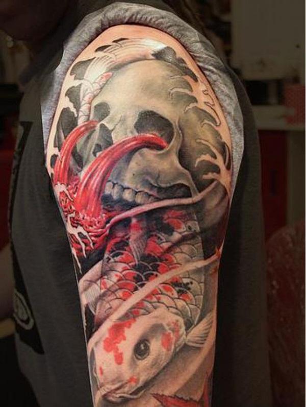 50 conceptions effrayantes de tatouage de crâne à aller