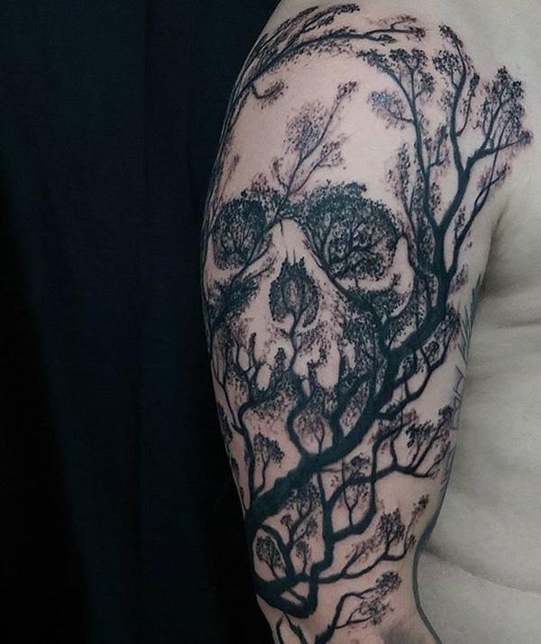 Tête de mort tatouage-23