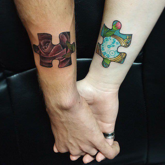 Meilleur 250 beaux tatouages assortis pour les couples