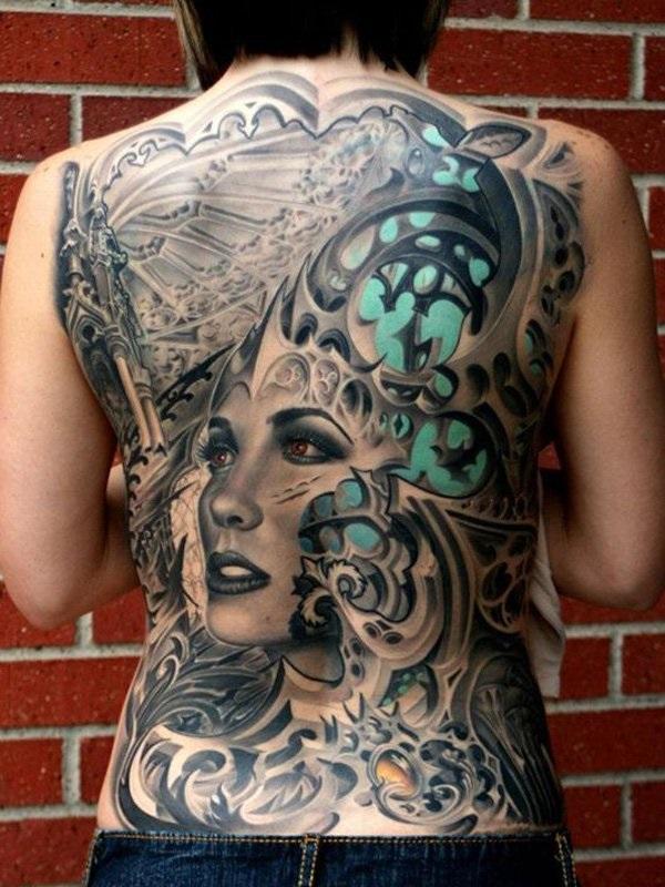 Conceptions et thèmes de tatouage arrière complet 2