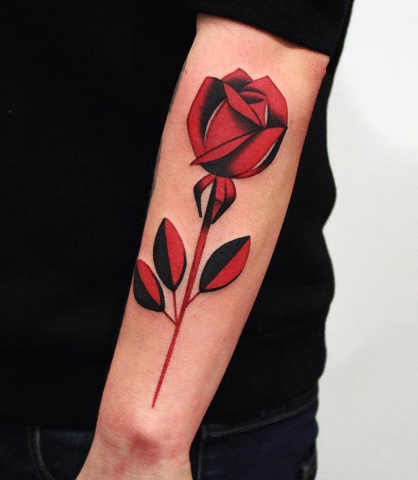 Rose manchon tatouage-65