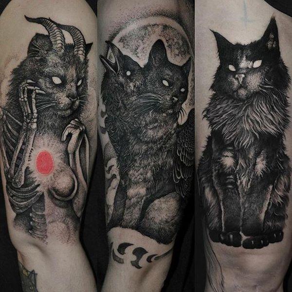 Tatouages sataniques avec des significations différentes