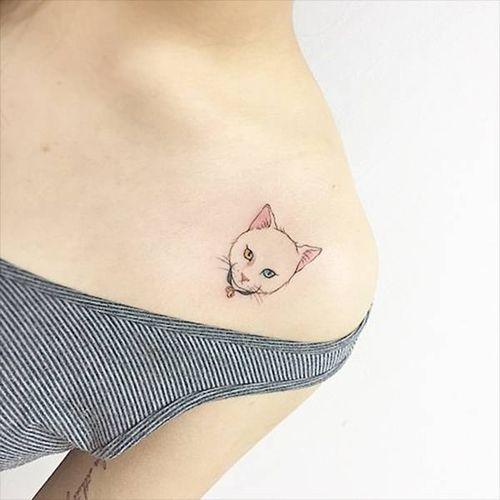 Idées de tatouage de petit chat