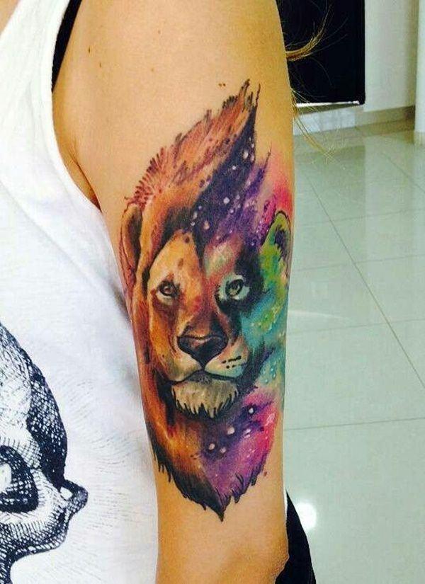 Meilleur 110 Meilleure collection de tatouages de lion de 2018