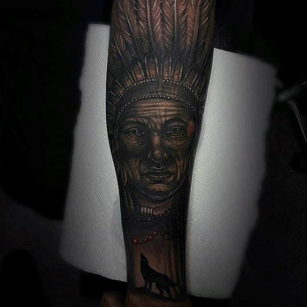 55 Tatouage traditionnel amérindien