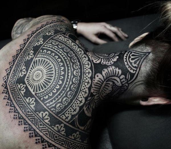 Tatouages de dentelle - les conceptions les plus remarquables et délicates