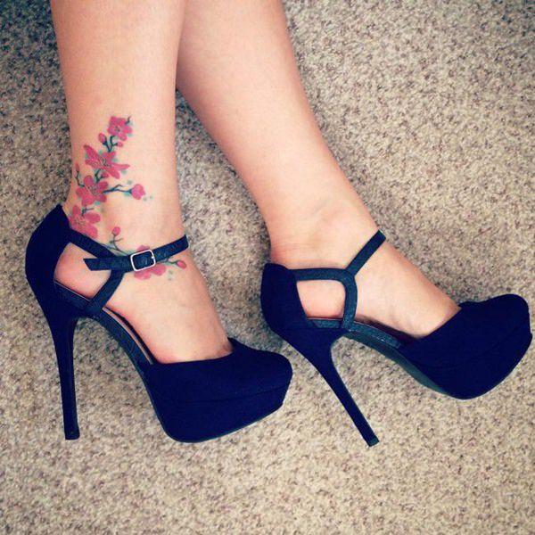 155 tatouages de la cheville à la mode pour les femmes