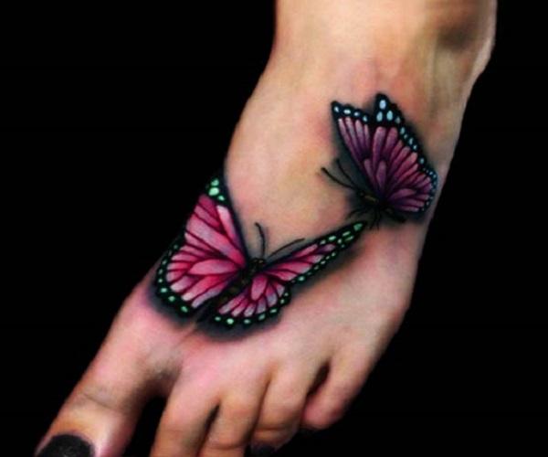 Tatouage papillon 3D 8