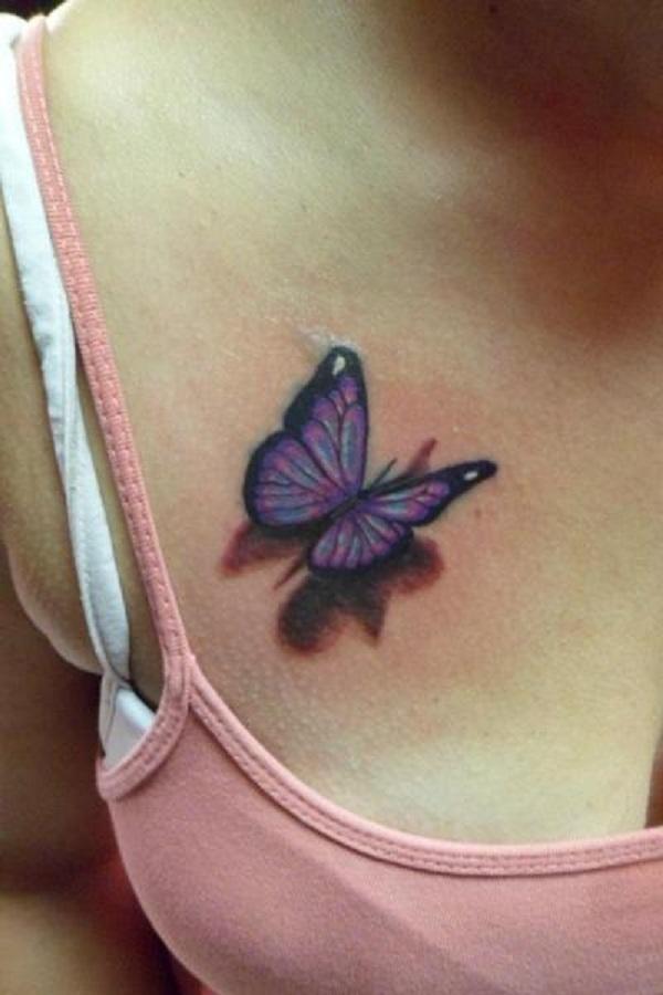 Tatouage papillon 3D 6