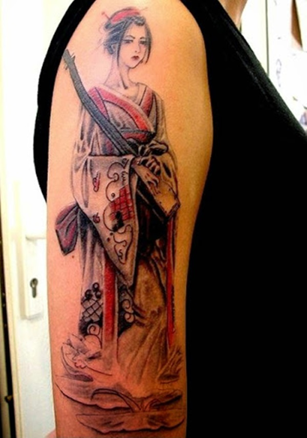 Idées époustouflantes de tatouages de geisha 2