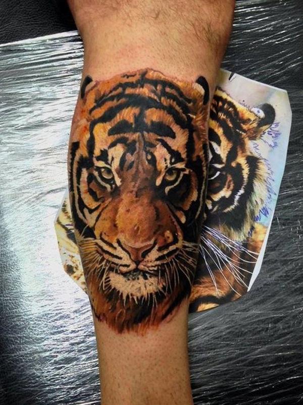 Conceptions de tatouage de tigre pour des hommes: 60 conceptions