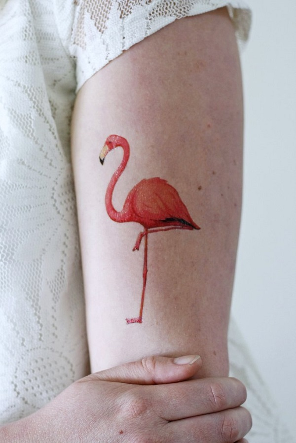 Tatouage de flamant rose 6
