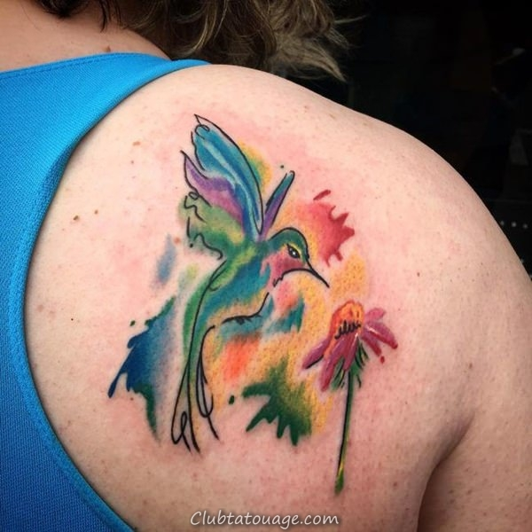 125 meilleures idées de tatouage Hummingbird pour 2017